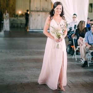 Azazie - Tanicia Rose Quartz Bridesmaid dress